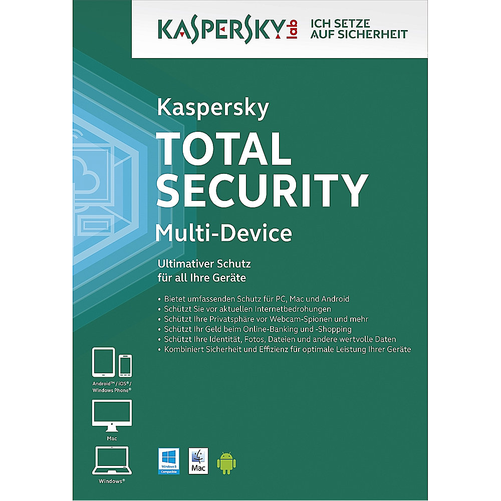 Kaspersky Total Security Multi-Device - 3 Geräte 2 Jahre Erneuerung Lizenz