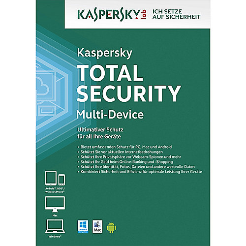 Kaspersky Total Security Multi-Device - 3 Geräte 2 Jahre Upgrade