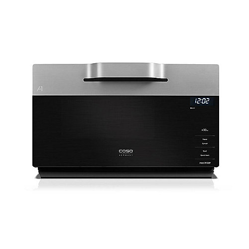 Caso IMG 25 Inverter-Mikrowelle mit Grill Schwarz/Silber | 4038437033564