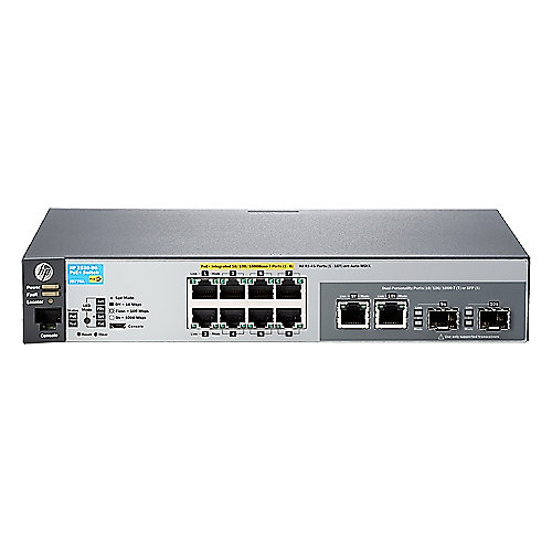 HP 2530-8G-PoE+ 8x Gigabit Switch Managed (8x Gbit PoE+, 2x Kombi-Gbit-SFP)