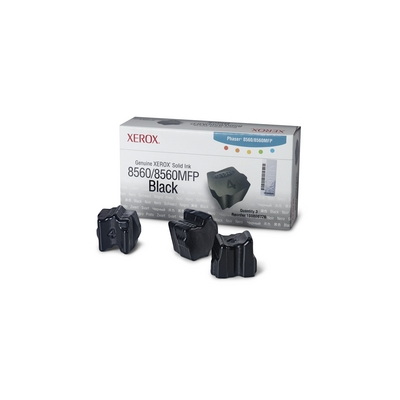 Xerox  108R00726 3x feste Tinte schwarz f. Phaser 8560(MFP) | 0095205427516