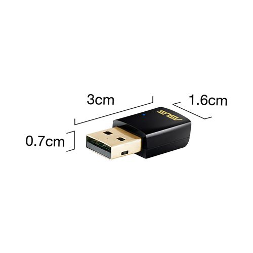 ASUS USB-AC51 Dualband Wireless-AC600 WLAN-Adapter