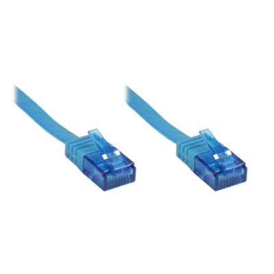 Good Connections  Patchkabel Cat. 6a U/UTP Flachkabel 500 MHz blau 10m | 4014619830824