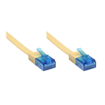 Good Connections  Patchkabel Cat. 6a U/UTP Flachkabel 500 MHz hellbraun 10m   4014619830862