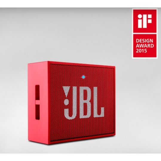 JBL GO Red - wireless/ultraportabler Bluetooth-Lautsprechersystem, red