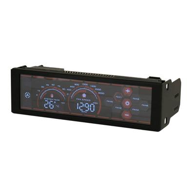 LC-Power  LC-CFC-1 6-fach Lüftersteuerung  mit LCD Touchdisplay, 5,25″ | 4260070124488