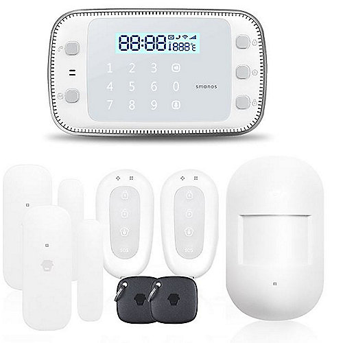 Smanos Wireless Alarm System Kit GSM/SMS X500 weiß