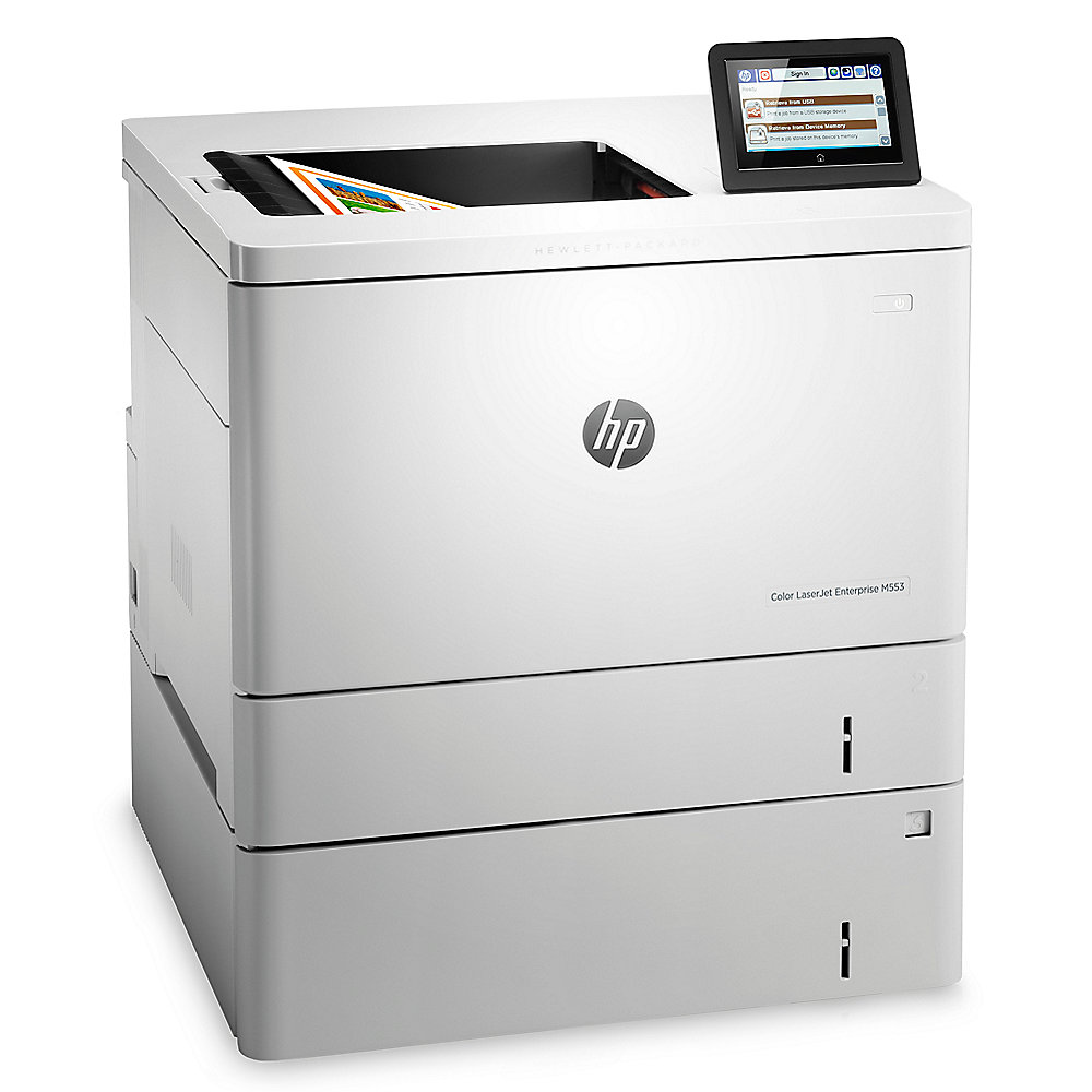 HP Color LaserJet Enterprise M553x Farblaserdrucker WLAN