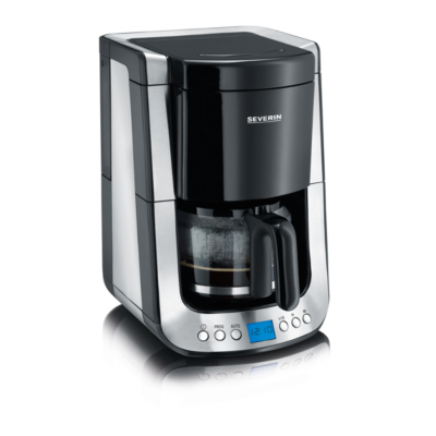 Severin  KA 4460 Kaffeautomat mit Timer Supreme Edelstahl-schwarz   4008146017841