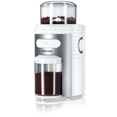 Severin  KM 3873 Mahlwerk-Kaffeemühle weiß-silber | 4008146387302