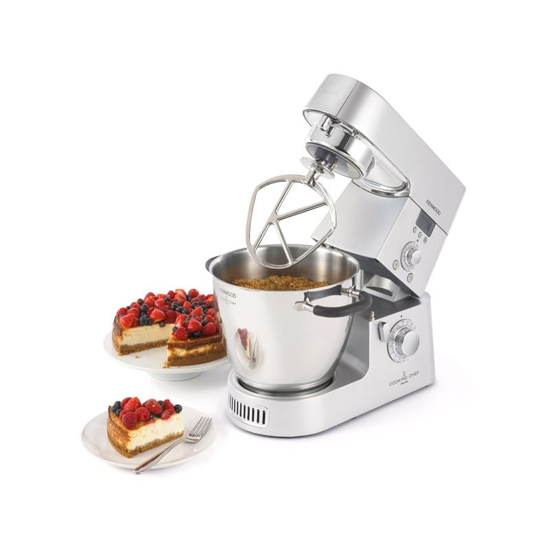 Kenwood KM096 Cooking Chef K?chenmaschine mit AT647 und KAH358GL
