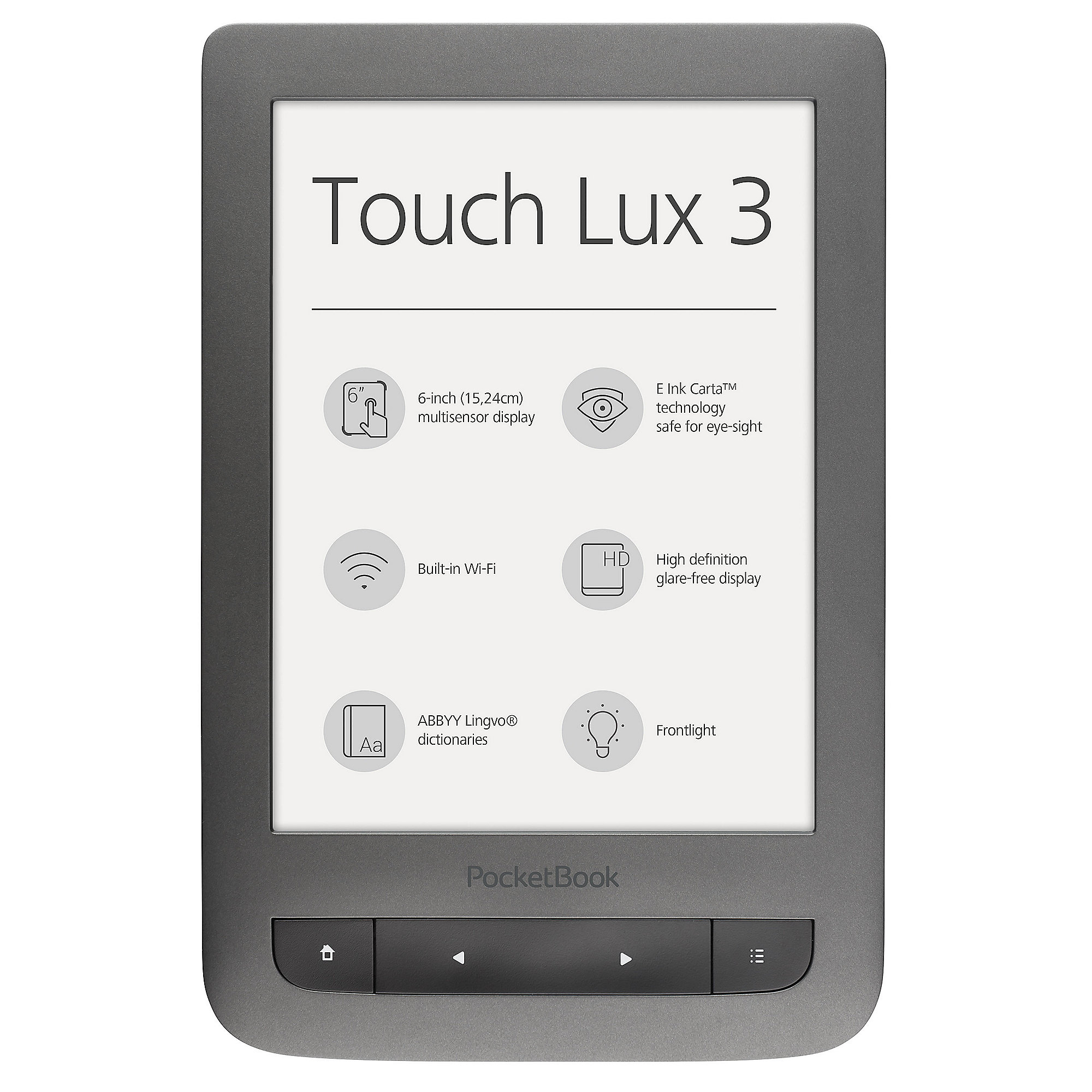 PocketBook Touch Lux 3 dark grey