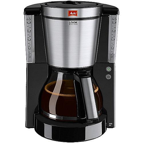 Melitta Look DeLuxe 1011-06 Kaffeemaschine schwarz-Edelstahl | 4006508209804