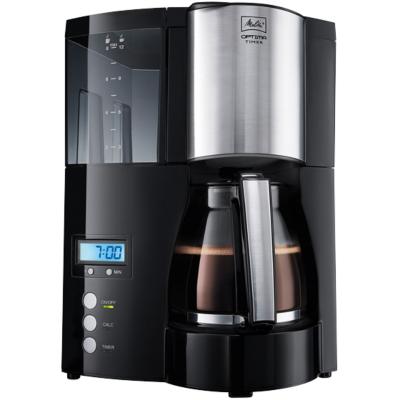 Melitta  Optima Timer 100801 BK Kaffeemaschine schwarz | 4006508203222
