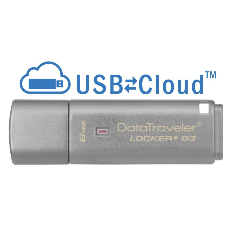 Kingston 8GB DataTraveler Locker+ G3 USB3.0 - Stick