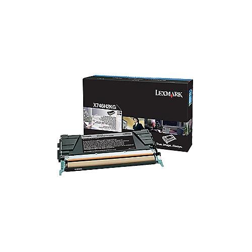Lexmark X746H2KG  Tonerkasette schwarz hohe Reichweite 12.000S | 0734646346269