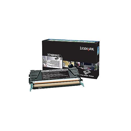 Lexmark X746H1KG  Rückgabe-Tonerkasette schwarz hohe Reichweite 12.000S | 0734646346252