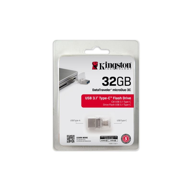 Kingston 32GB DataTraveler MicroDuo 3C USB3.1/ Type C - Stick