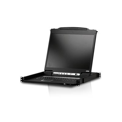 Aten  CL6700 19-Zoll-DVI-LCD-Konsole (USB) schwarz   4710423775763