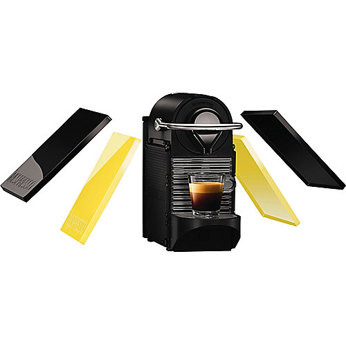 Krups XN 3020 Nespresso Pixie Clips Black & Electric Lemon