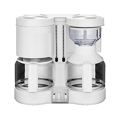 Krups KM 8501 Doppel-Automat Kombiautomat Kaffee/Tee Duothek Plus Weiß | 3045386369768