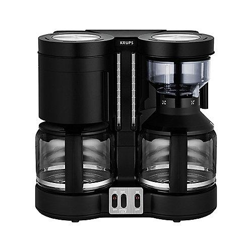 Krups KM 8508 Doppel-Automat Kombiautomat Kaffee/Tee Duothek Plus Schwarz | 3045386369751