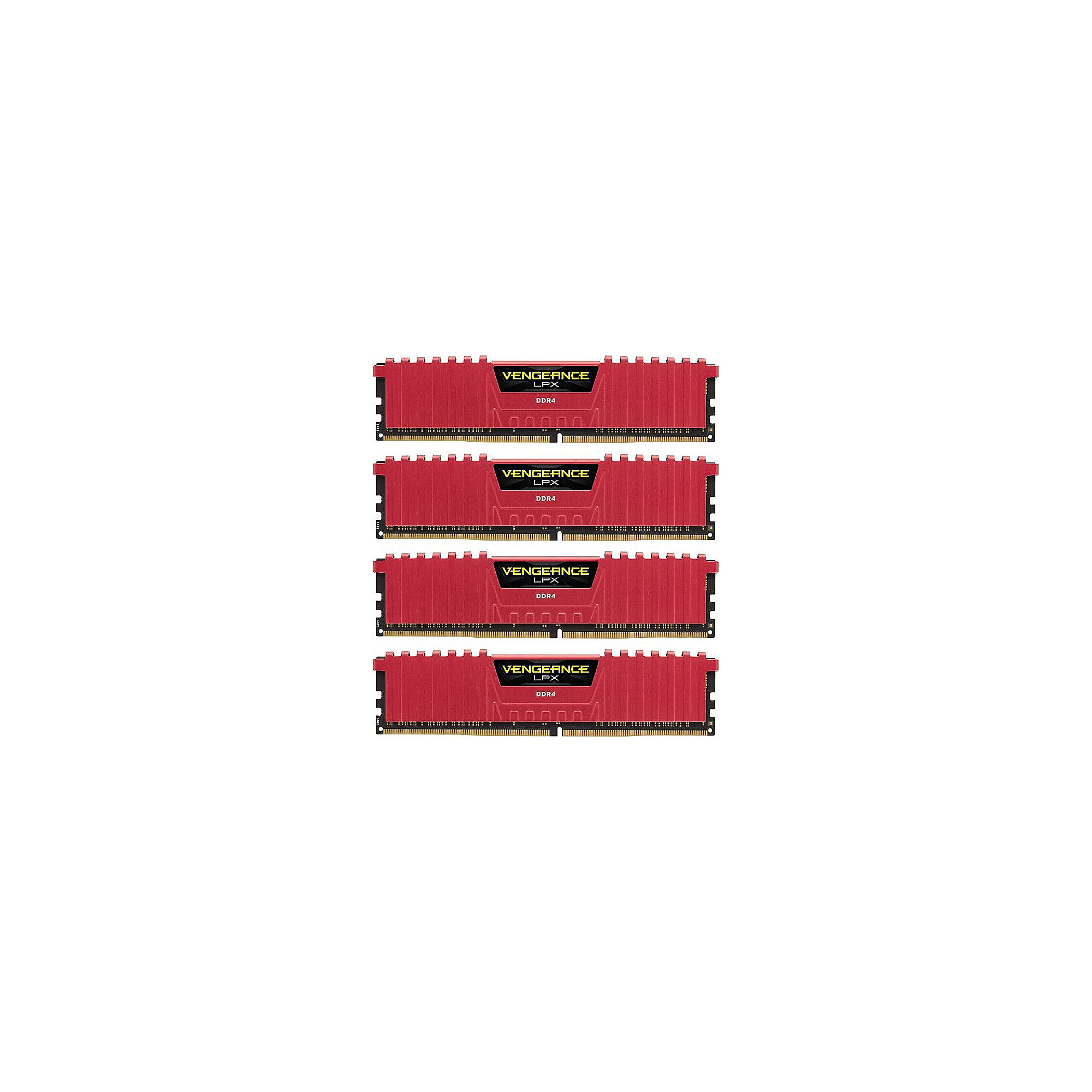 16GB (4x4GB) Corsair Vengeance LPX Red DDR4-32000 RAM CL15 (15-17-17-35)