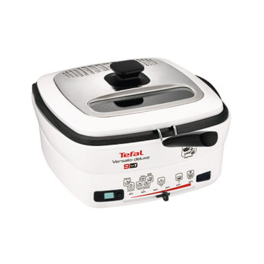 Tefal FR 4950 Multifunktions-Fritteuse Versalio Deluxe 9in1 Weiß/Schwarz