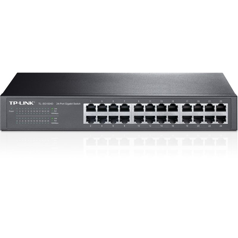 TP-LINK TL-SG1024D 24x Port Desktop Gigabit unmanaged Switch