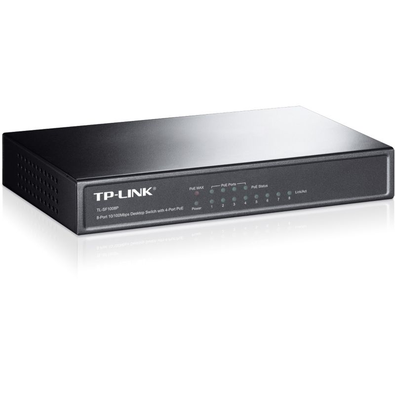 TP-LINK TL-SF1008P 8x Port Desktop Switch mit 4x PoE