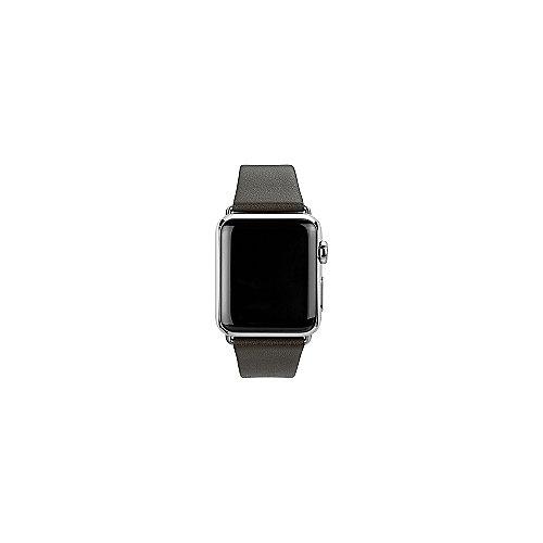 CASEual Lederarmband für Apple Watch 42mm dunkelbraun