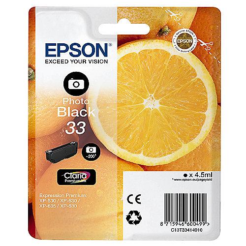 Epson C13T33414010 Druckerpatrone 33 photo schwarz