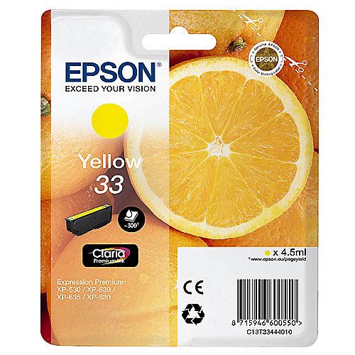 Epson C13T33444010 Druckerpatrone 33 gelb