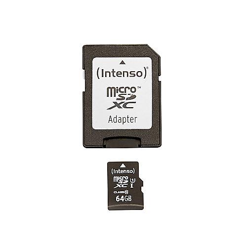 Intenso 64 GB microSDXC Speicherkarte (45 MB/s, Class 10, UHS-I)