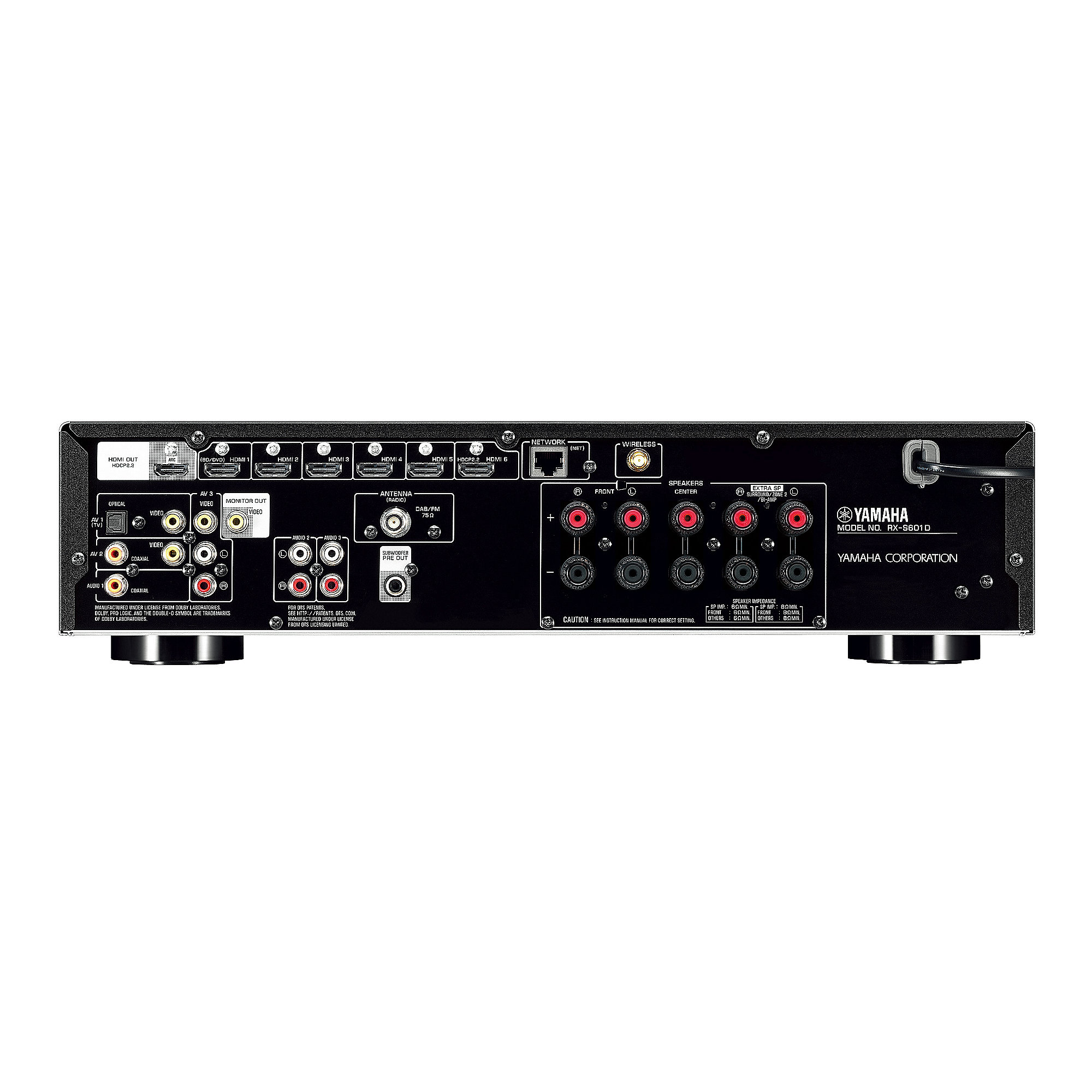 Yamaha rx s601dab 5 1 av receiver musiccast spotify for Yamaha tv receiver