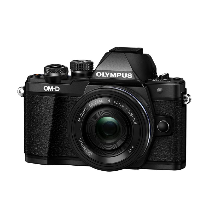 Olympus OM-D E-M10 Mark II Kit 14-42mm EZ-Pancake Digitalkamera schwarz