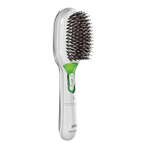 Braun Satin Hair 7 BR 750 Elektrische Haarbürste mit Naturborsten weiß | 4210201141235