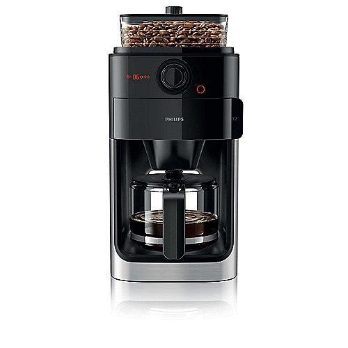 HD7765/00 Grind and Brew Kaffeemaschine mit Mahlwerk Edelstahl Schwarz | 8710103744702