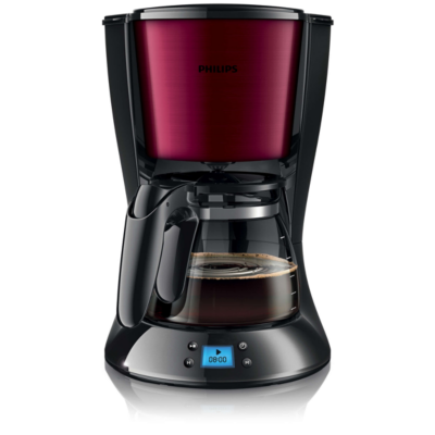 Philips  HD7459/31 Grind and Brew Daily Collection Kaffeemaschine Burgunderrot | 8710103748366