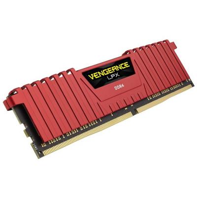 Corsair 16GB (2x8GB)  Vengeance LPX Rot DDR4-2666MHz CL16 (CL16-18-18-35) RAM | 0843591069625
