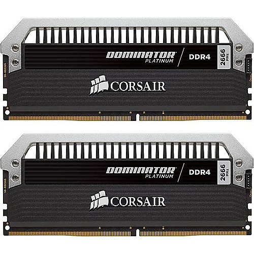 16GB (2x8GB) Corsair Dominator Platinum DDR4-2666 CL15 (15-17-17-35) DIMM-Kit