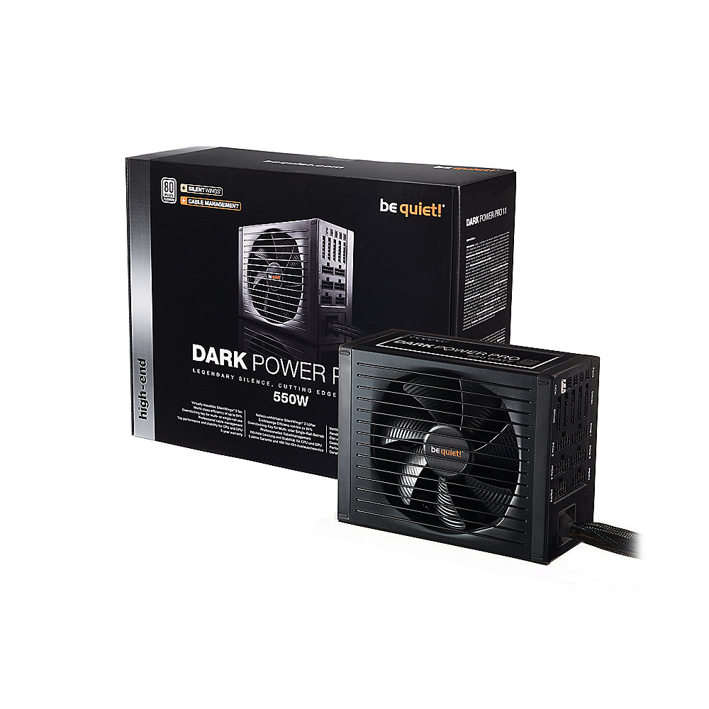 be quiet! Dark Power Pro 11 550 Watt ATX V2.4 80+ Platinum Netzteil modular