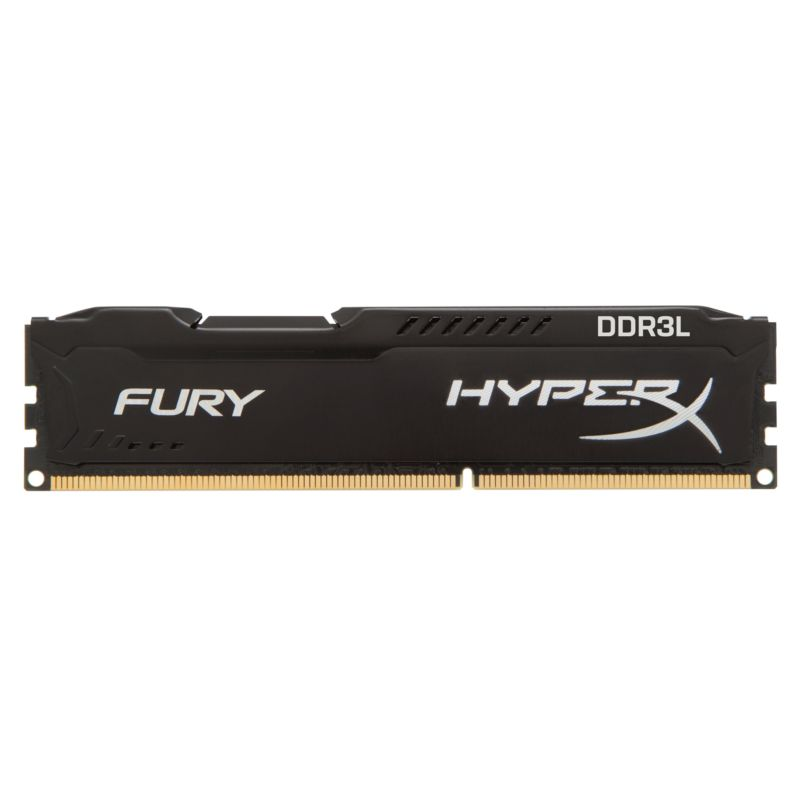 4GB HyperX Fury schwarz DDR3L-1600 CL10 RAM Low Voltage