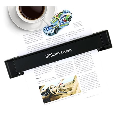 IRIS IRISCAN Express 4 volltransportabler Farbscanner A4 USB Win/Mac