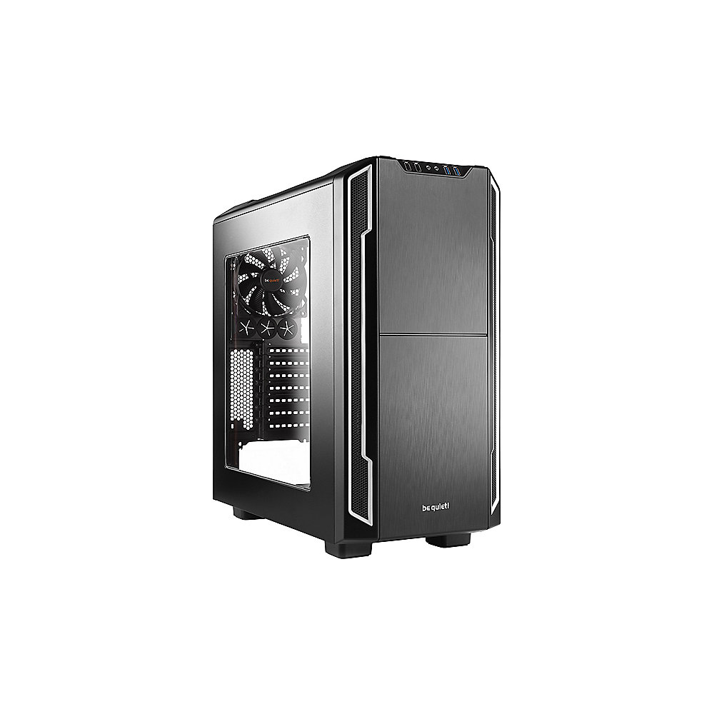 be quiet! Silent Base 600 Silber Window Midi Tower Gehäuse ATX/mATX/Mini-ITX