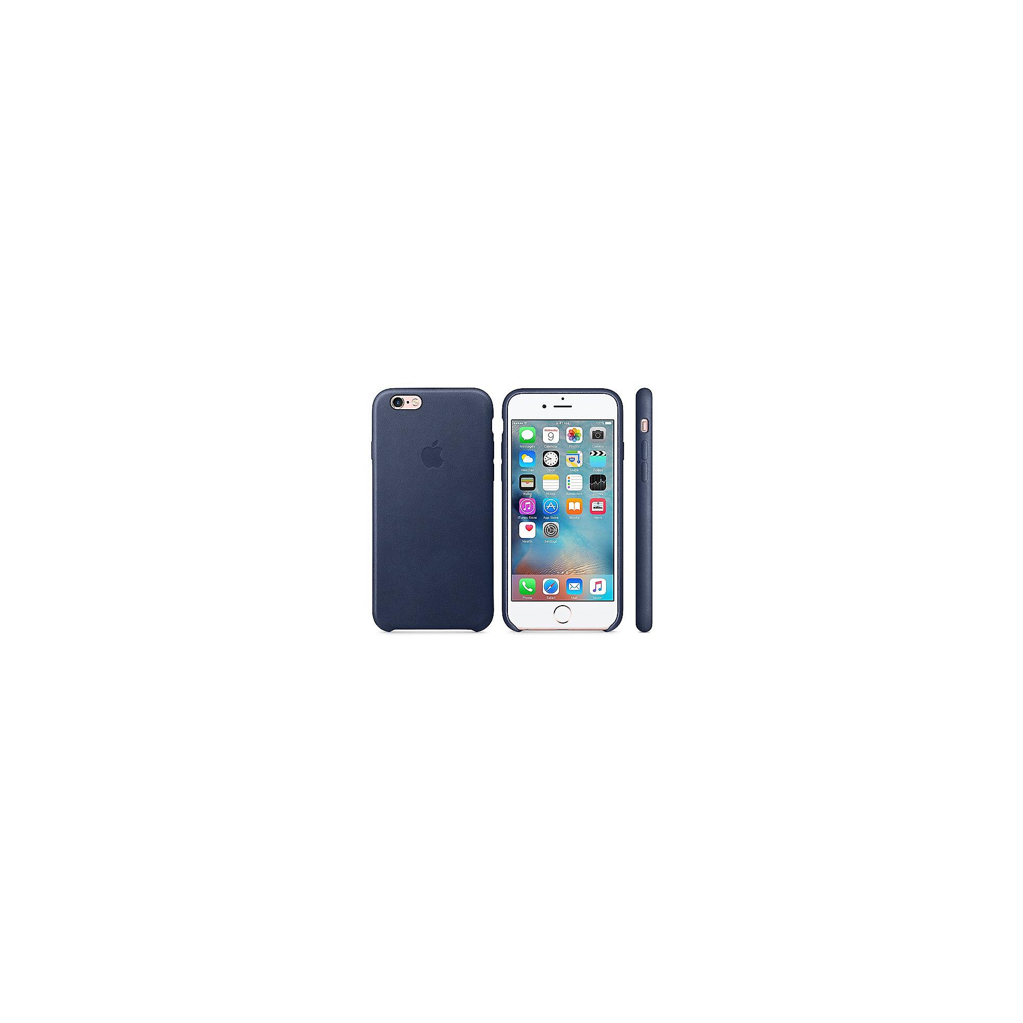 apple original iphone 6s leder case mitternachtsblau. Black Bedroom Furniture Sets. Home Design Ideas