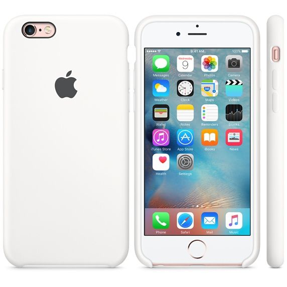 Apple Original iPhone 6s Silikon Case-Weiß