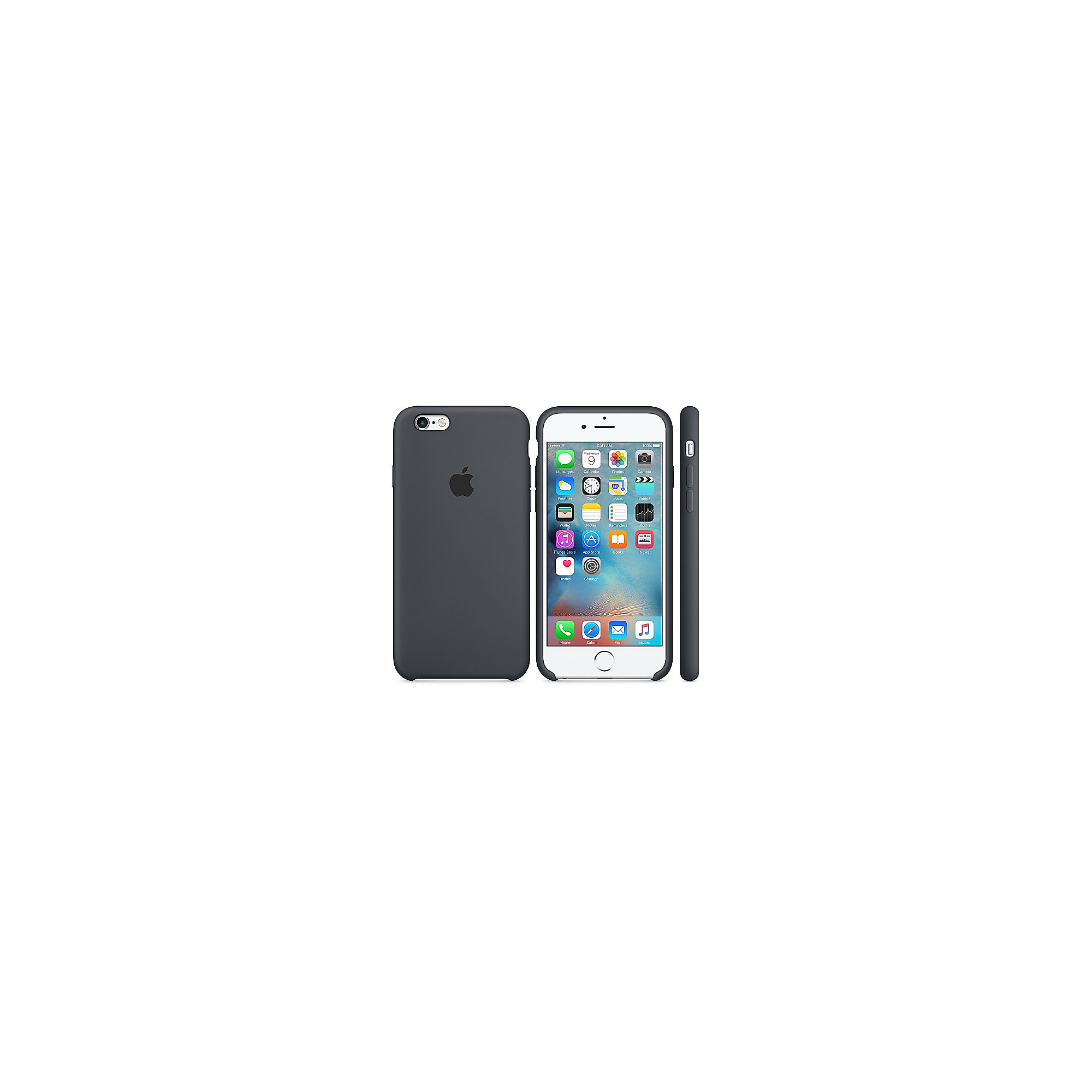 Apple Original iPhone 6s Silikon Case-Anthrazit