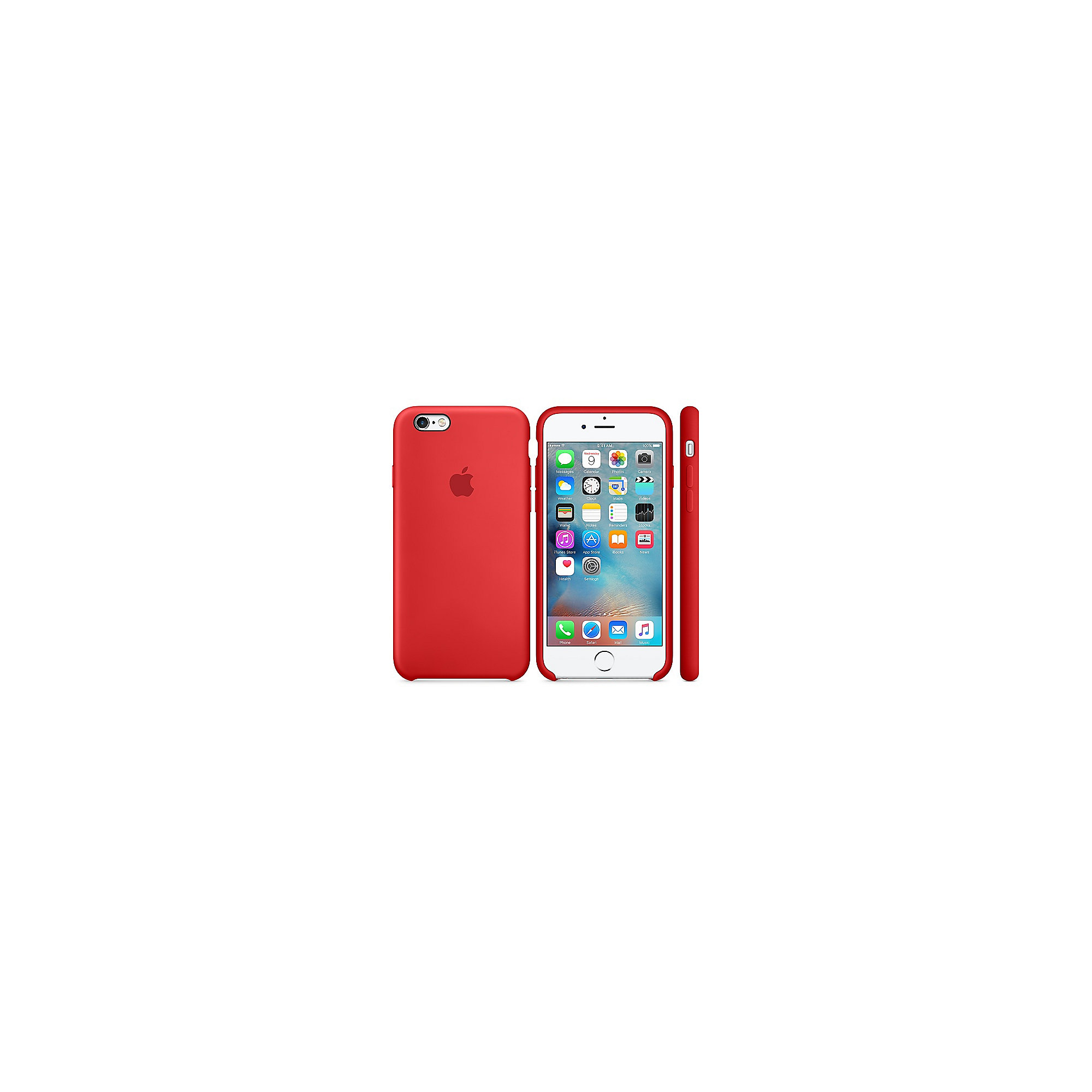 Apple Original iPhone 6s Silikon Case-(PRODUCT)Rot