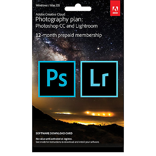 Adobe Creative Cloud Foto-Abo (Lightroom & Photoshop) - ESD